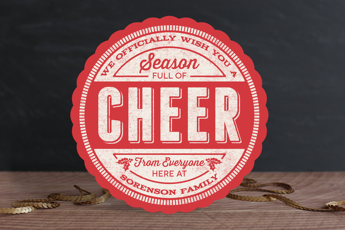 Minted Cheer Stamp Holiday