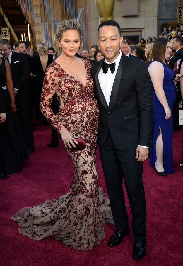 John Legend & Chrissy Teigen : Angela Weiss : AFP : Getty Images