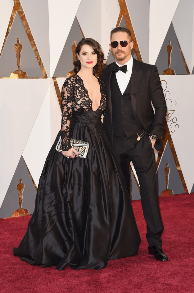 Tom Hardy & Charlotte Riley : Jason Merritt : Getty Images
